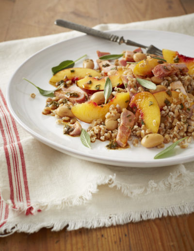 Pearled wholewheat salad