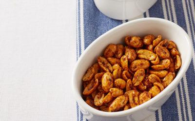 Lightly roasted nuts