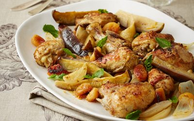 Chicken with citrus & brinjal