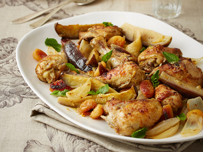 Chicken with citrus & brinjal