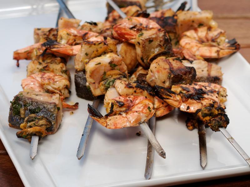Marokkaanse vis- & seekoskebabs