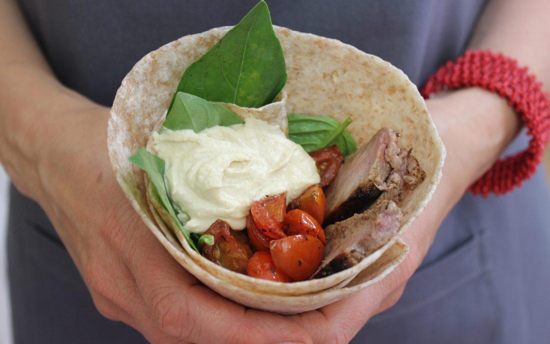 Somer-tortillas met steak & slaai