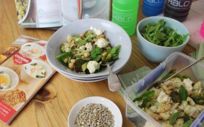 Geroosterde broccoli-&-blomkoolslaai