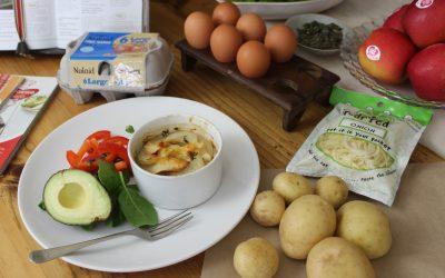 Eenskottelgebak met aartappel & hoender