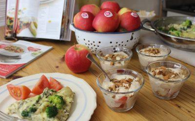 Groente-frittata & Rooibos-jogurt met appel & kaneel