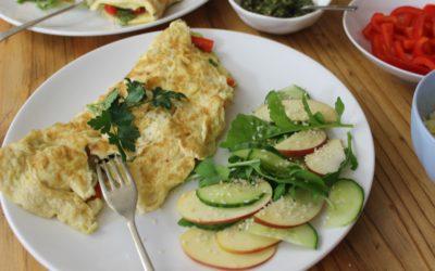 Omelette met groente & kruie