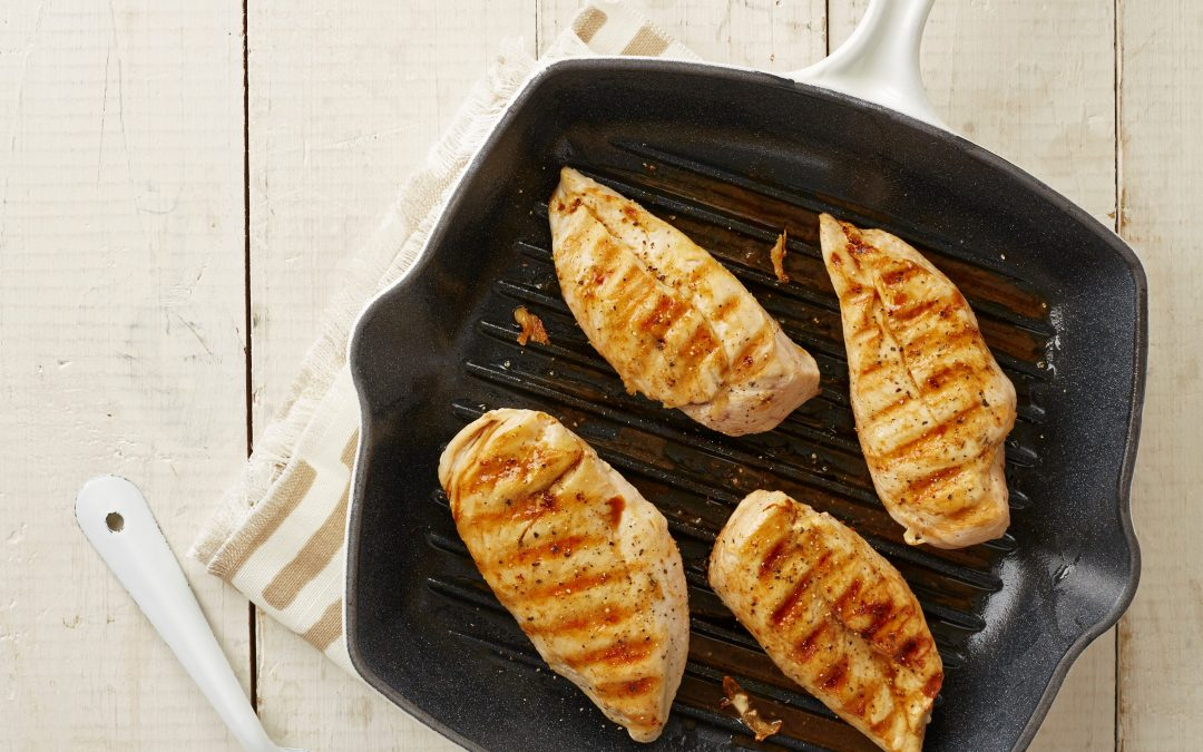 Juicy chicken breast fillets