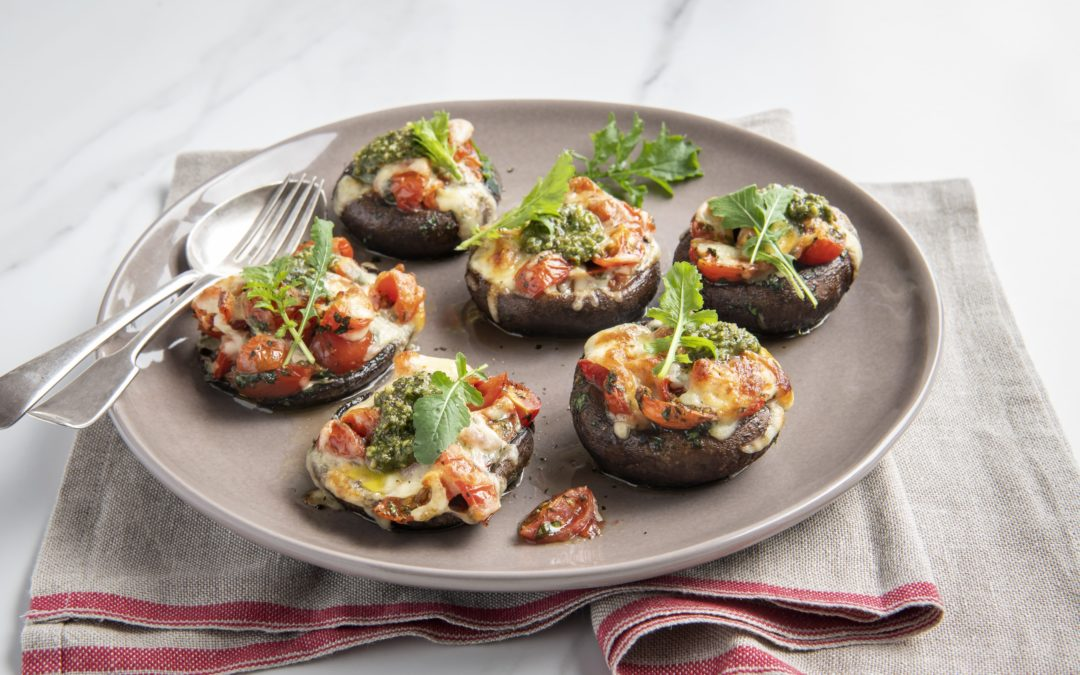 Baked mushrooms with Italian flavours