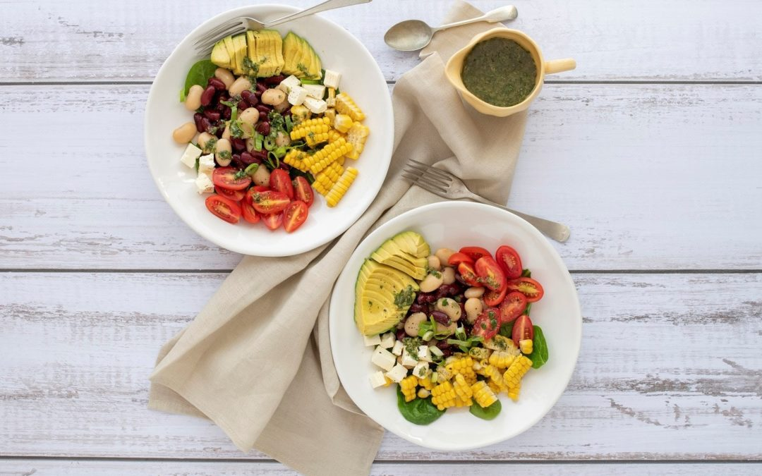 Veggie bowl with beans