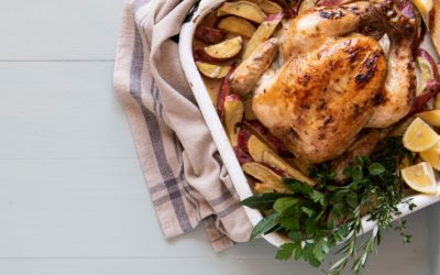 Roasted chicken & two ways to use it