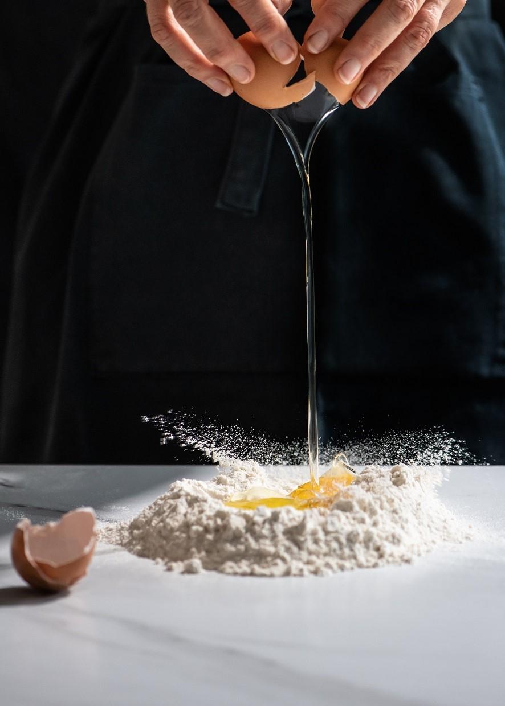 Tuisgemaakte vars pasta