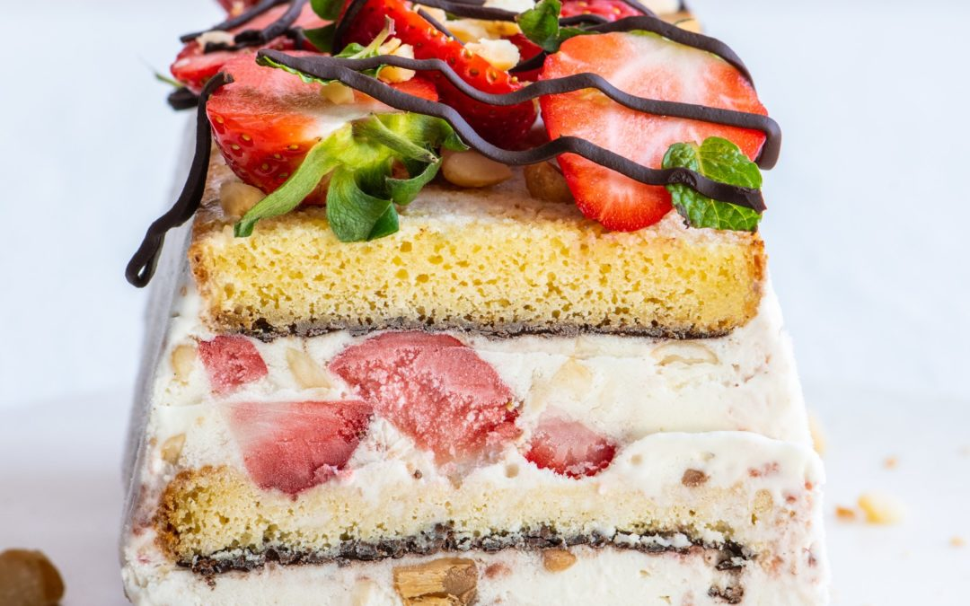 Ice cream & berry terrine