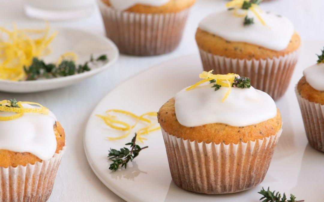 Lemon, thyme & poppy seed cupcakes